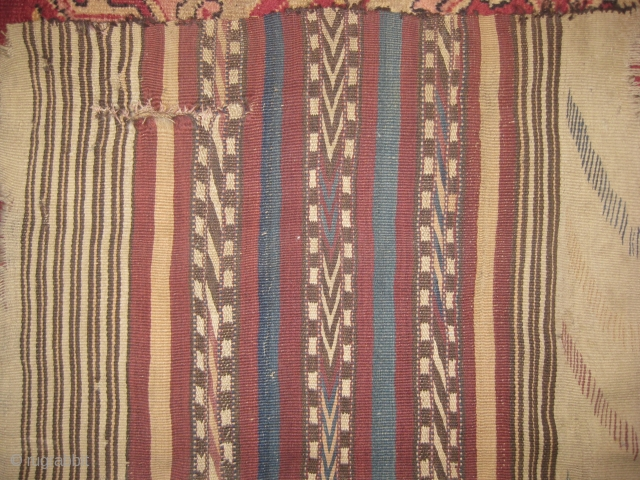 Kilim needs repair measuring 5.10 x 2.1 ft.