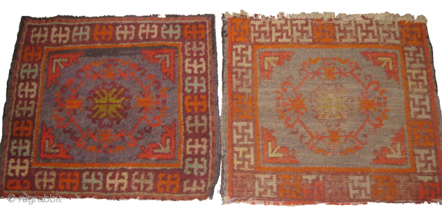 Two Samarkand rug,one of them needs repair size: 1.9 x 1.10ft