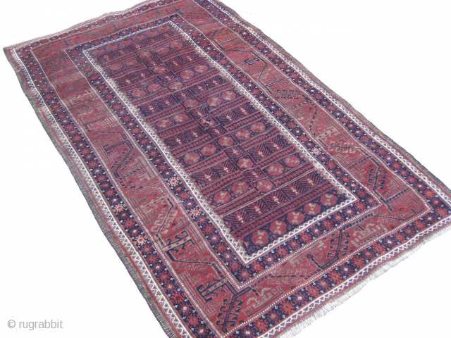Old Baluch rug good in condition size: 6.4 x 3.8 ft.