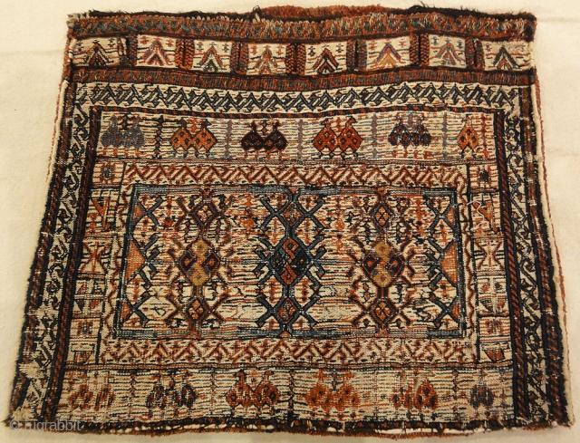 """Persian Bakhtiari Camel Bag 1'8"""" x 1'11"""""""