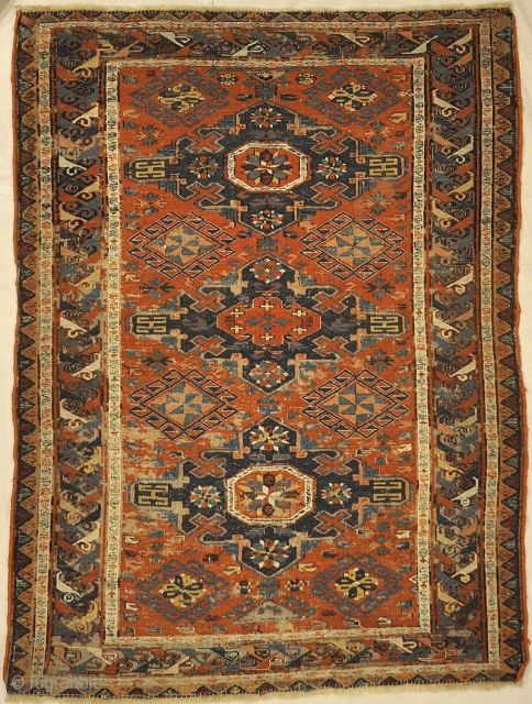Antique Soumak Kuba Rug