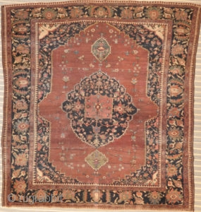 Antique Farahan Rug - Size: 8 x 8'8