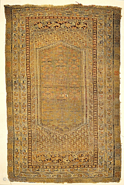 Circa 1800 Antique Kula Classic Turkish Rug Genuine Woven Carpet 