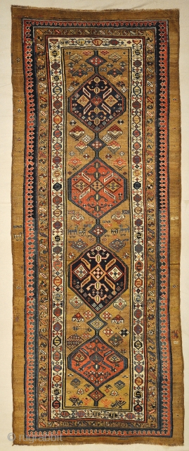 Antique Tribal Persian Camelhair Sarab - Size: 4' x 9'9""