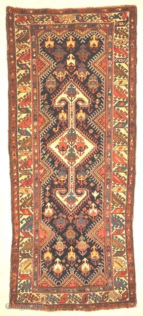 "Antique Persian Lori Runner Circa 1880 - Size: 3'5"" x 8'1"""