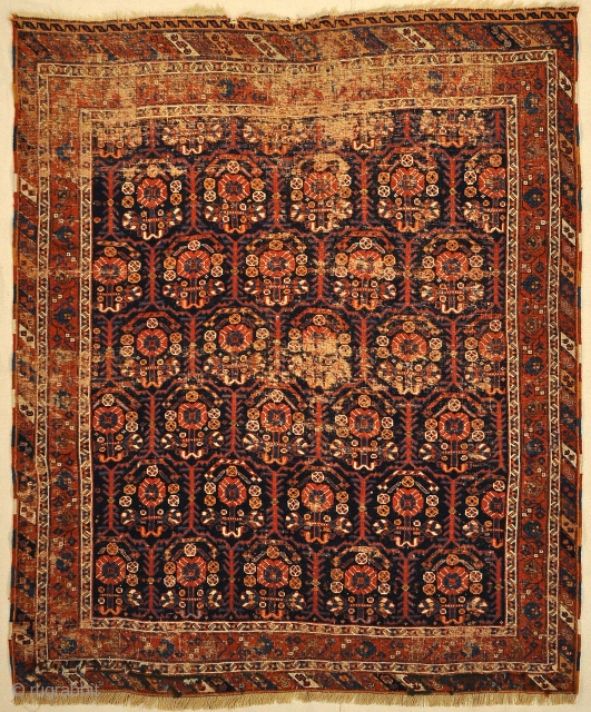 Antique Handwoven Persian Afshar Botteh Rug