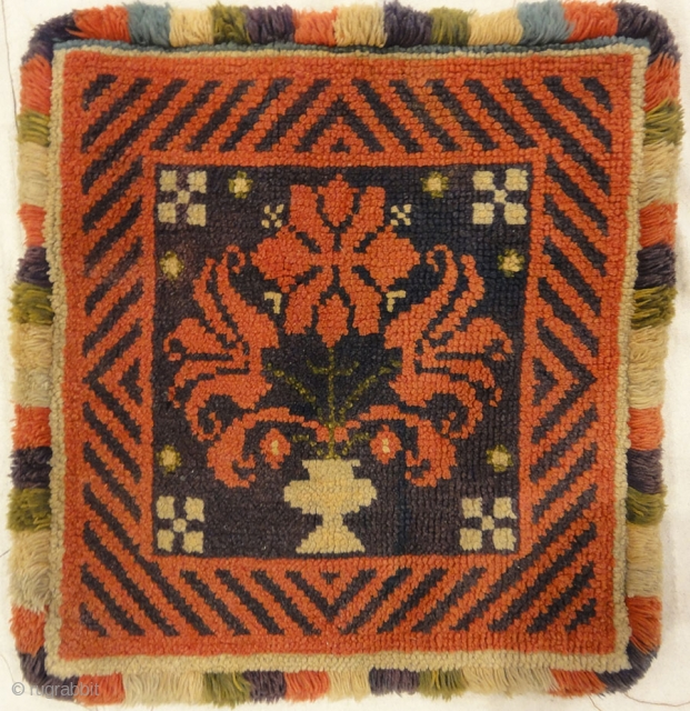 Antique Swedish Rye Floral Pile Rug