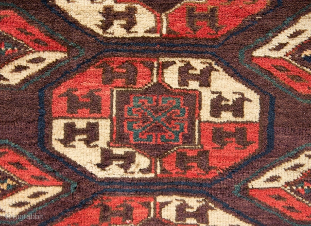 Turkmen Chodor Maın Rug Fragment