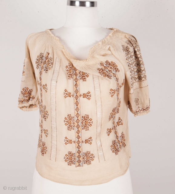 Silk Romanian Top
