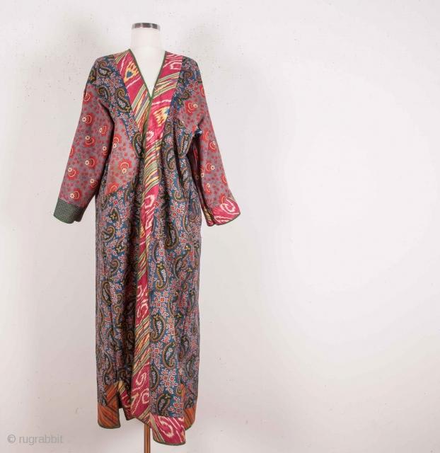 Central Asian Tajik Silk Chapan