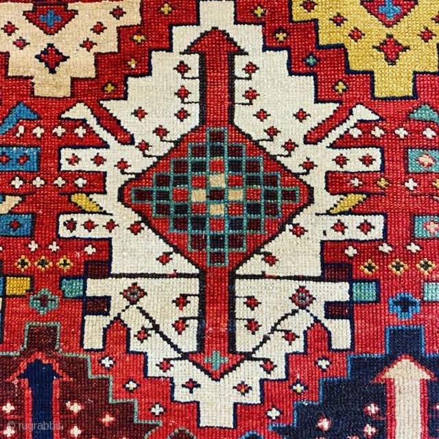 Caucasian small Kuba rug  with kelim design , mid 19th century  #karlsruhe #suedliche_waldstrasse #antiquerugs #antiquekilim #islamicart #interiordesign #decoratifart #decoration #luxury #macallan #breguet #boucheron #riva #ferragamo #lovely #rich #caucusus #halimagazine #turkish  ...