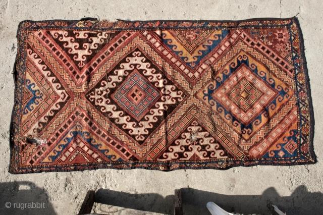 Kazakh, Central Asian (non-Turkmen) carpet south-west Kazakhstan,  circa 1920  320 X 160 cm.