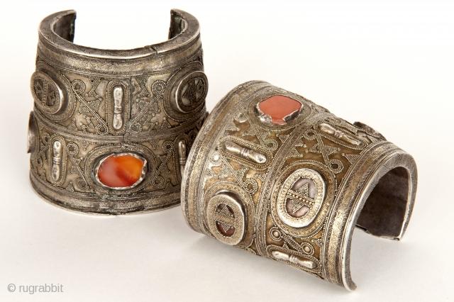 bracelet, silver, gilding, grain, carnelian, Mangistau- Western Kazakhstan  XVIII c.