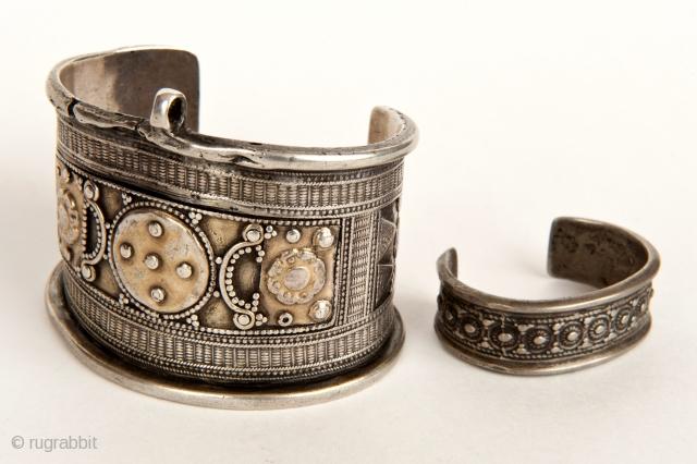 Bracelet-silver, gilding,, bgranulation, XIX century. Aktobe region, Kazakhstan Bracelet-children,silver,castinng, 1920-30 Aral region, Kazakhstan