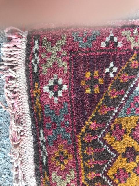 """Non Turkmen Central Asian/Uzbek or Kazakh (?) """"karshin"""" (bag face), 90 x 40 cm."""