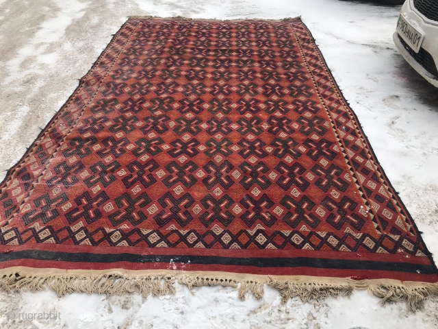 Turkmen, kilim, 1940-1950, 210X350 cm.In good condition, need to wash