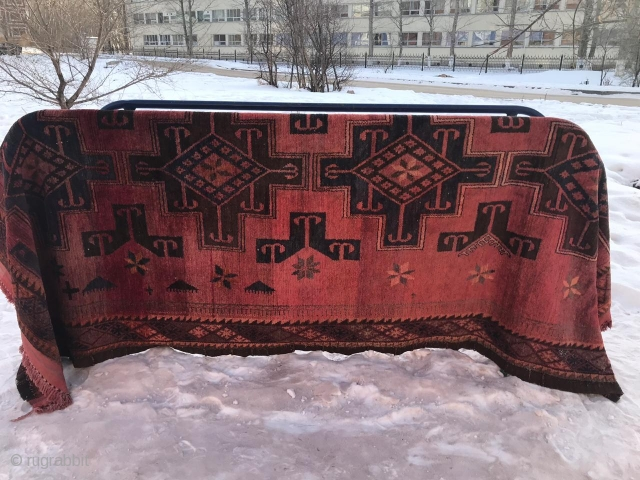 Kazakh , Central Asian ( non-Turkmen),  cotton base, requires cleaning,  1940-50, size: 180X320 cm.