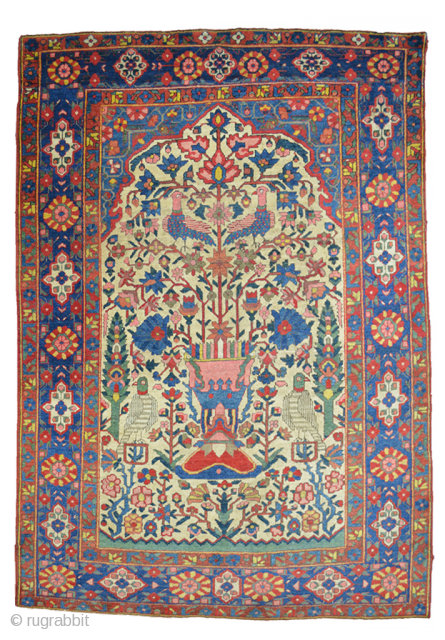 Antique Bakhtiar Rug 195x135cm CIRCA 1900