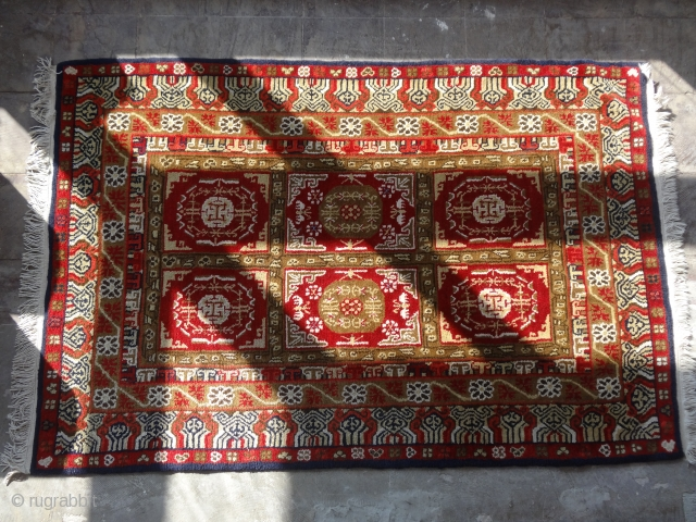 gansu rug northwest China  early 20th century  size 120 cm x 185 cm