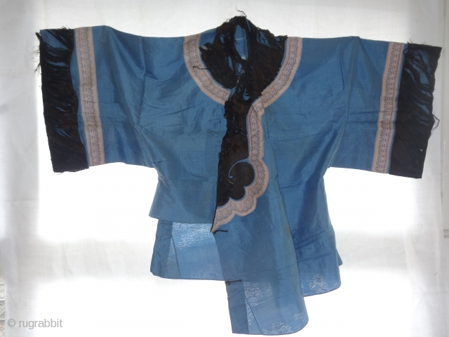 chinese silk jacket late 19th c