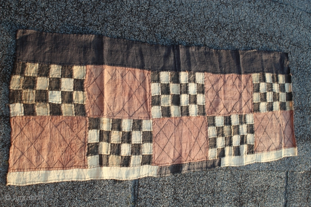 Kuba people patchwork embroidered and tie dyed Ndengese 