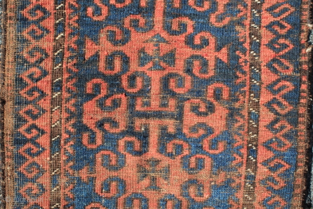 antique 19th century northwest afghanistan bahuli nomad belouch rug 
