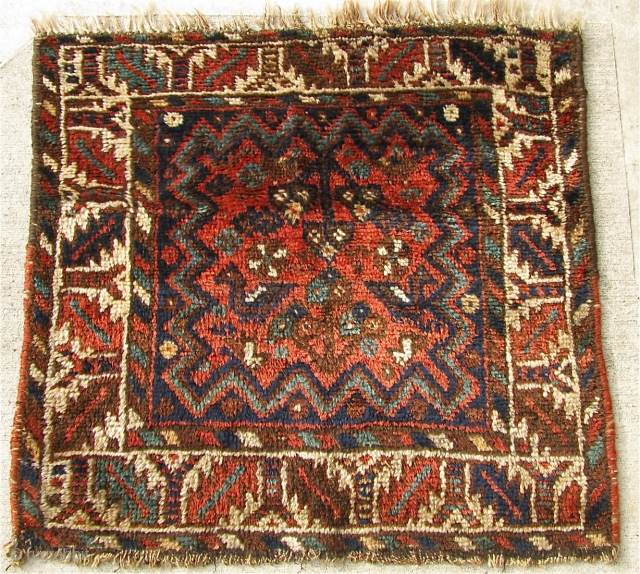 "2' 4"" x 2' 6"" Persian bagface in good pile condition.  Free Ship/U.S.  3 day returns policy."