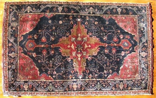 "1' 11"" X 3' 1"" Mishin Malayer with silk highlights @ center and in very good pile condition.  The bottom guard border