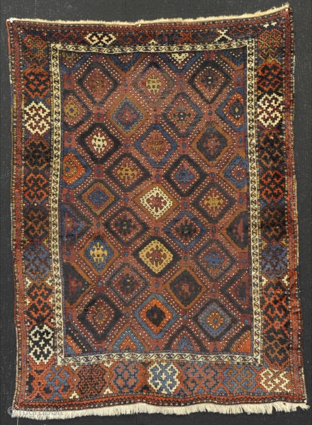 East Anatolian Anatolian Rug. It is from Antep (Gaziantep) city of Turkey. It has been made by Kurdish people.  Dimensions are 120 CM x 200 CM  This unique model is called as Devebasmasi.  It has  ...