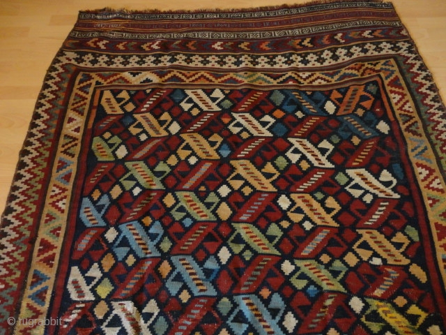 Antique  and  rare  fine persien Waramin Kelim  155 X 238 cm.