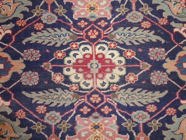 Antique  Kayseri   rug  round  1900   119 X 175  cm.   Naturel  colours ,  short pile  , rare  and  unusual  ...
