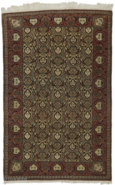 """Kashan Persian Carpet 7'1""""x4'6""""(217cmx138cm) See more details here: https://www.carpetu2.co.uk/id/ant011-25052/Persian,Classic,Antiques,Excellent-Quality,Offers,Kashan,/"""