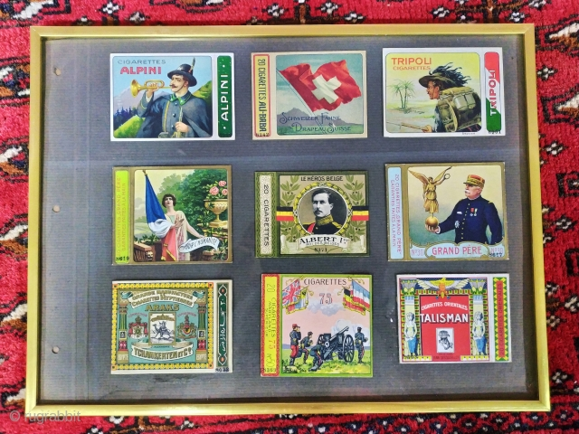 Over 200 pieces collection of cigarette packages. Over 100 years. Ask for more, Send us a quote.