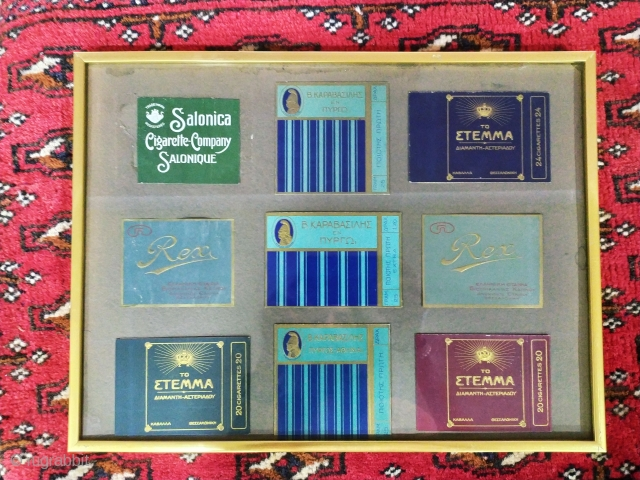 Over 200 pieces collection of cigarette packages. Over 100 years. 
