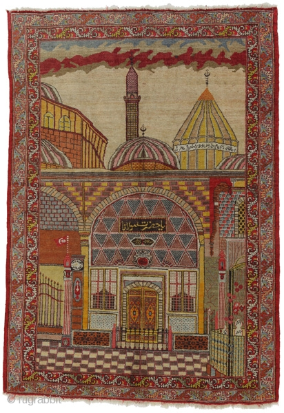 "Oushak - Turkish Carpet 7'5""x5'2""(228cmx160cm)