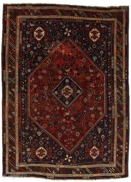 vintage Qashqai Persian Carpet circa 1970. Find more here https://www.carpetu2.com