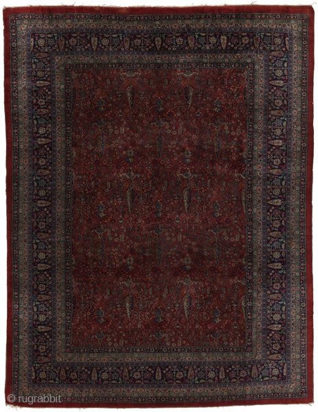"Tabriz Persian Carpet 11'8""x9'0""(357x276cm) See more details here: https://www.carpetu2.com/id/ant034-1124/Persian,Classic,Antiques,Offers,Tabriz,/?lan=int"