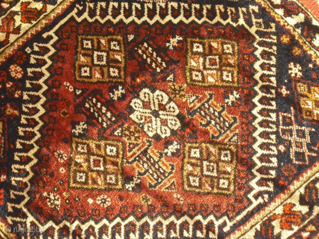 Qashqai -  Gaschgai - Bagface - around 1910-1920 - soft wool - one spot with restoration and one hole