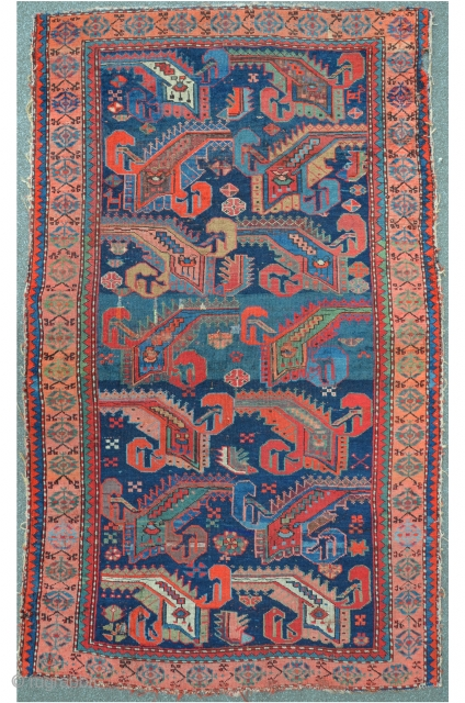 Antique South Caucasian Goradis with stunning design. Perfect size for the wall. 167 x 101 cm