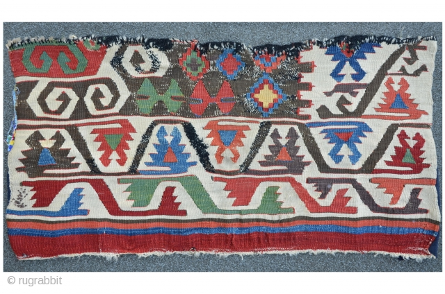 Central Anatolian Kilim Fragment, 51 x 100 cm, superb colors