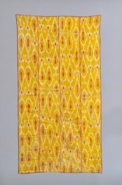19th Century Uzbek ikat. 81 x 43 inches. Some watermarks