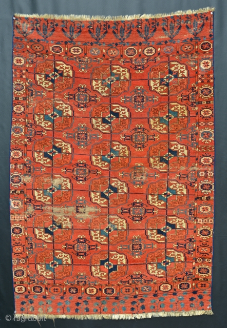 18th or early 19th Century prototypical Tekke textile. 59 x 41 inches.