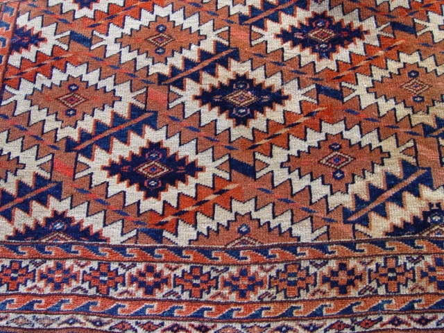 "Antique Yomud Turkmen Asmalyk, size 2'1"" X 3'2"","
