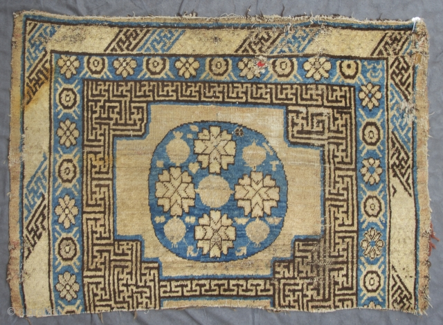 "Khotan Oasis, East Turkestan, 4. Quarter 19th. century, 119 x 83 cm, 3'11"" x 2'8"" , 