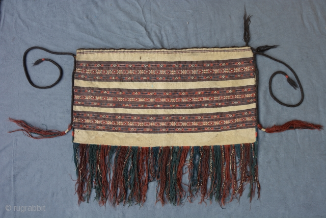 Complete Turkmen Kilim Torba, Yomud, ca. 1900, 87 x 46 cm https://www.wildcarpets.com
