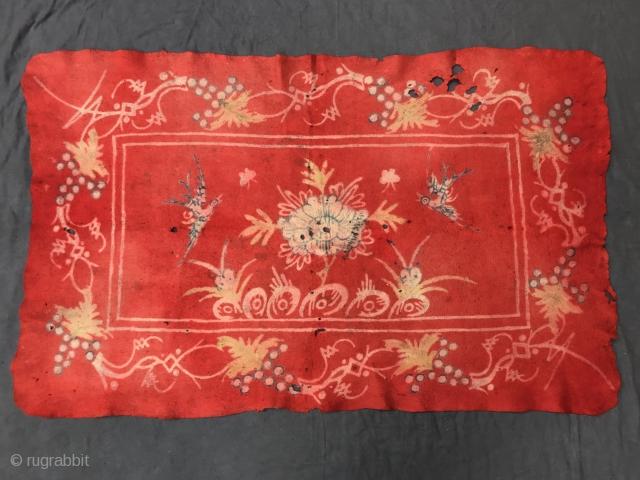 rare and collectible mongolian felt, tibet/gansu, 19th century, 188 x 118 cm, 74,01 x 46,45 inches
