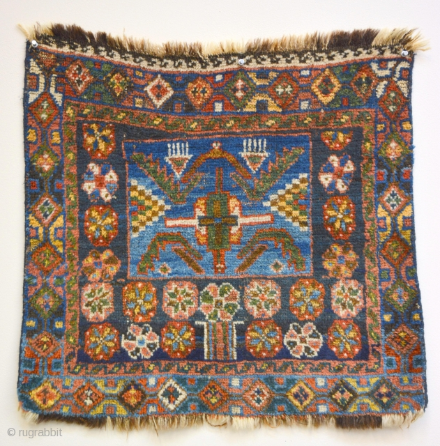 Exceptional Kurdish bag 19th century 64 x 61 cm