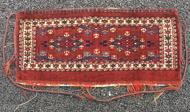 19th Century Yomut Torba A real beauty size is 92 x 45 cm All original and Excellent condition.
