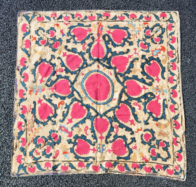 A small Susani mid 19th century, size is 100 x 99 cmm