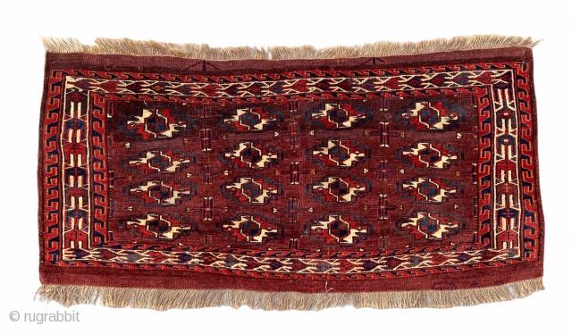 Mid 19th century Karadashli with cotton weft highlights, Great condition
